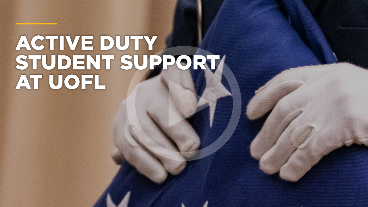 Online learning video - Active Duty Student Support at UofL